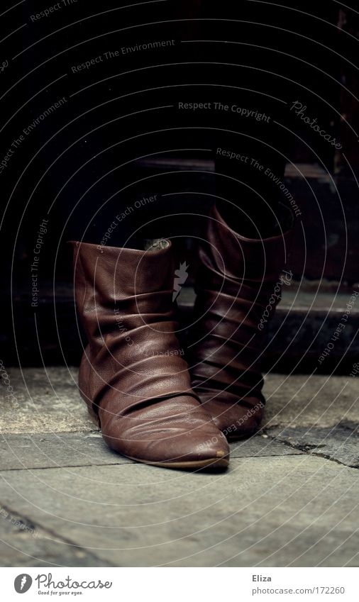 Woman Style Feet Footwear Brown Going Door Elegant Cool (slang) Stand Ground Floor covering Wrinkle Boots Leather