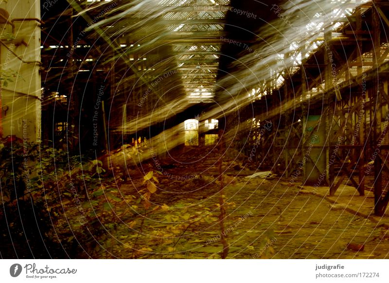 industrial romance Colour photo Interior shot Day Light (Natural Phenomenon) Long exposure Motion blur Factory Industry Plant Industrial plant Ruin