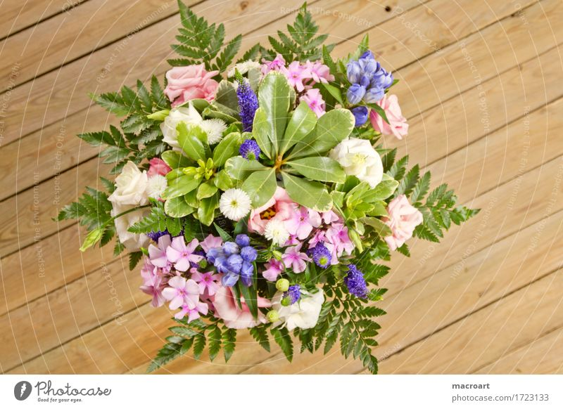 bouquet Bouquet Flower Blossoming Mother's Day Birthday Congratulations Father's Day Valentine's Day Green Fern Floristry Donate Violet Pink Wooden table shabby