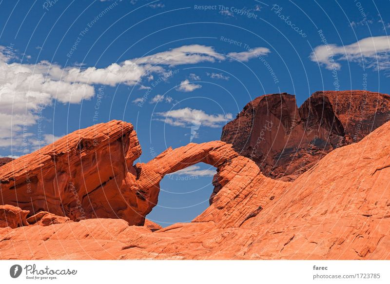 arch rock valley of fire Environment Nature Landscape Elements Sand Beautiful weather Rock Mountain Desert Valley of fire Tourist Attraction Stone Discover