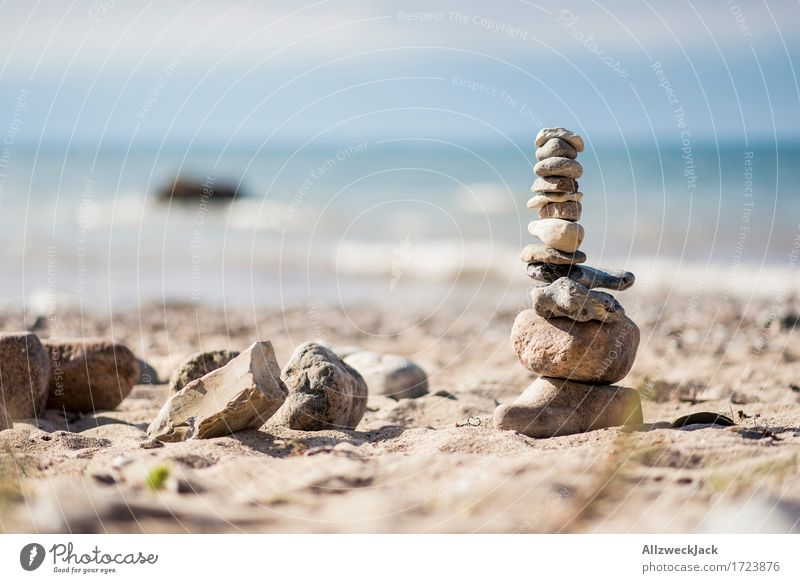 Stone tower 2 Summer Summer vacation Beach Ocean Baltic Sea Esthetic Serene Patient Calm Self Control Concentrate Colour photo Exterior shot Close-up Deserted