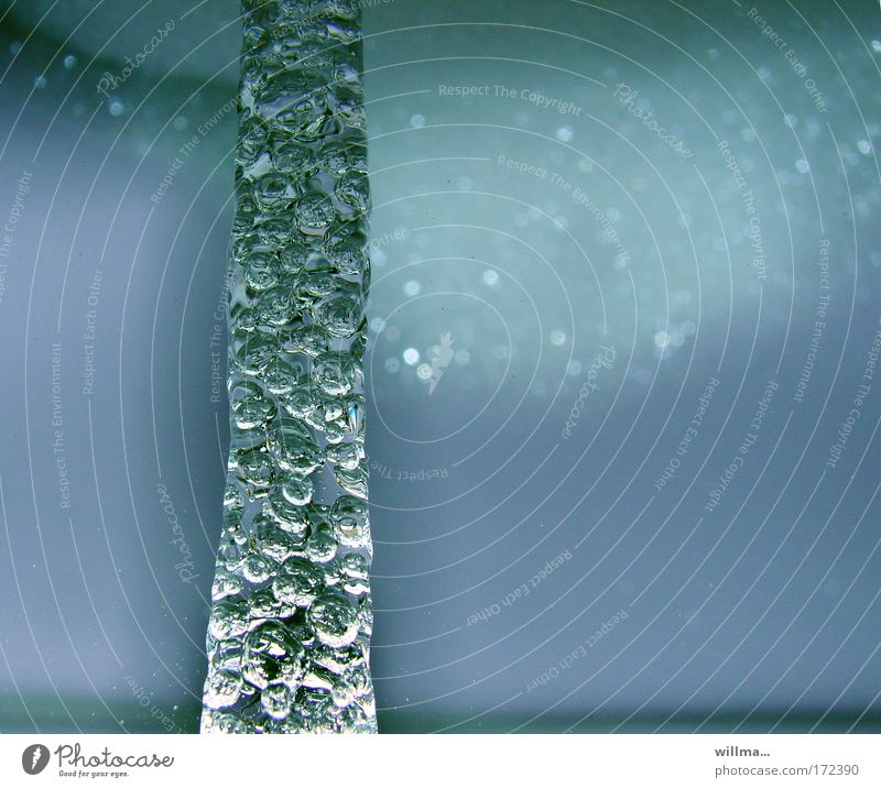 Blue Water Cold Ice Drops of water Wet Clean Elements Frost Wellness Attachment Personal hygiene Renewable energy Column Vertical Air bubble