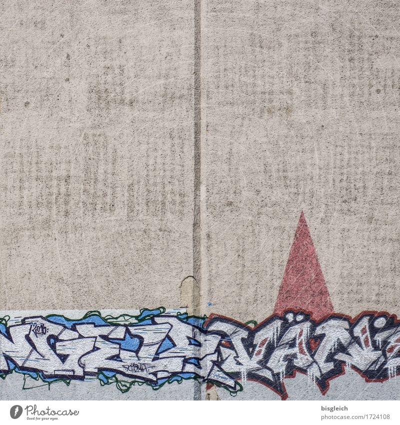 Red Eyes Wall (building) Wall (barrier) Art Gray Concrete Painting and drawing (object) Cap Work of art Dwarf