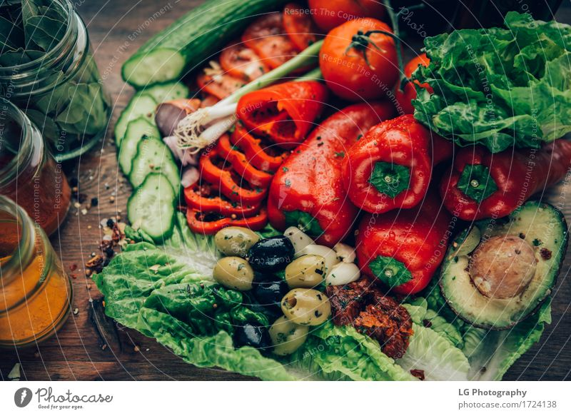 A mix of healthy and colorful produce on a wooden surface. Vegetable Herbs and spices Vegetarian diet Pan Kitchen Leaf Wood Fresh Together Bright Natural Green