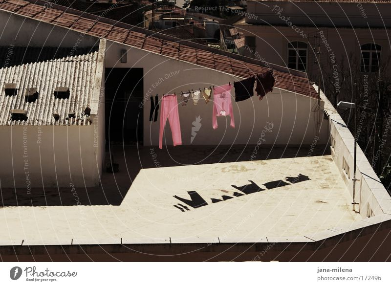 outdoor clothes dryer Colour photo Exterior shot Deserted Copy Space bottom Light Shadow Contrast Silhouette Sunlight Bird's-eye view