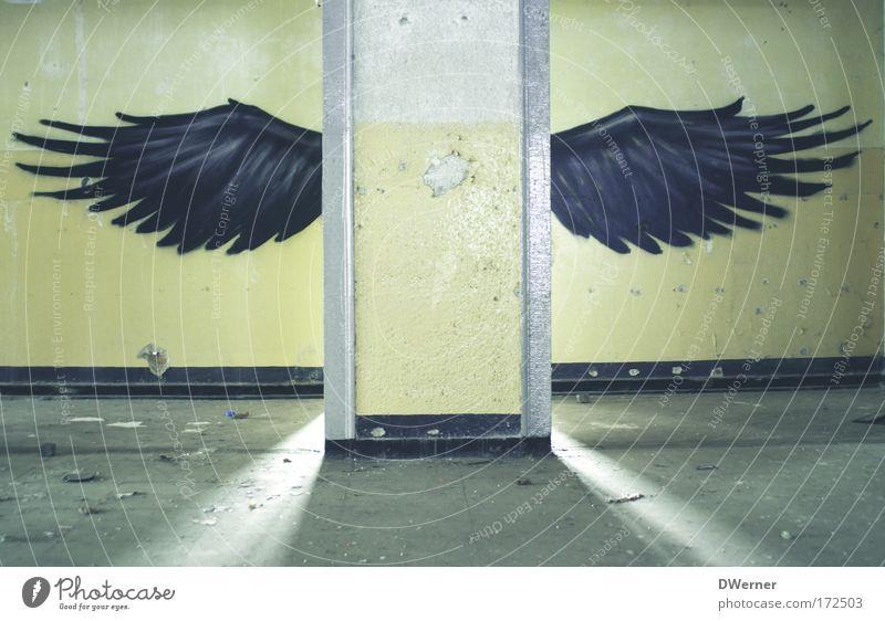 Life Wall (building) Graffiti Style Wall (barrier) Air Human being Bird Arm Art Flying Esthetic Aviation Living or residing Retro Angel