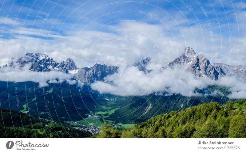 Fischleintal / Dolomites Vacation & Travel Tourism Trip Summer Mountain Hiking Environment Nature Landscape Plant Clouds Beautiful weather Tree Forest Rock Alps