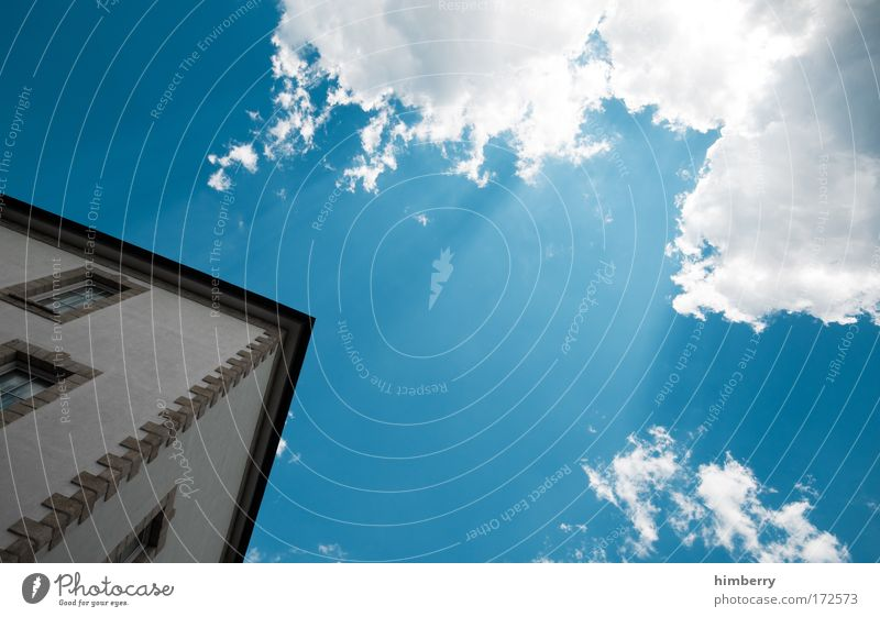 Sky Nature Clouds House (Residential Structure) Window Environment Wall (building) Architecture Building Wall (barrier) Facade Design Weather Climate Beautiful weather Construction site