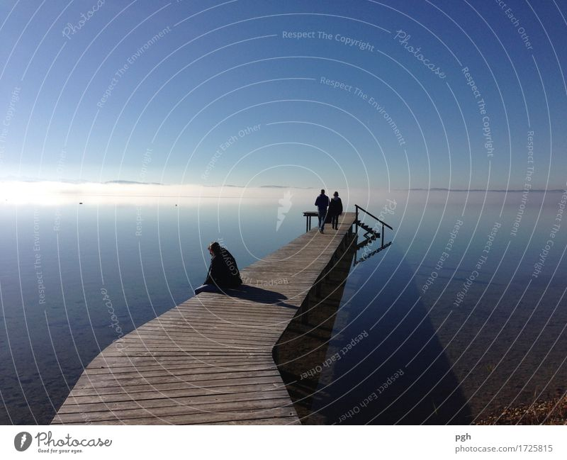 Fog on the horizon Harmonious Well-being Relaxation Calm Vacation & Travel Far-off places Freedom Summer Aquatics Swimming & Bathing Closing time Solar Power