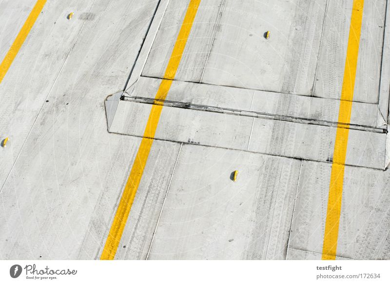 platform Colour photo Exterior shot Abstract Pattern Structures and shapes Day Bird's-eye view Navigation Container ship Ferry Friendliness Trashy Yellow