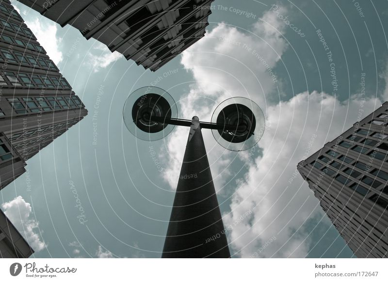 Sky City Clouds Wall (building) Window Wall (barrier) Building Power Metal Architecture Glass Concrete High-rise Facade Might Manmade structures