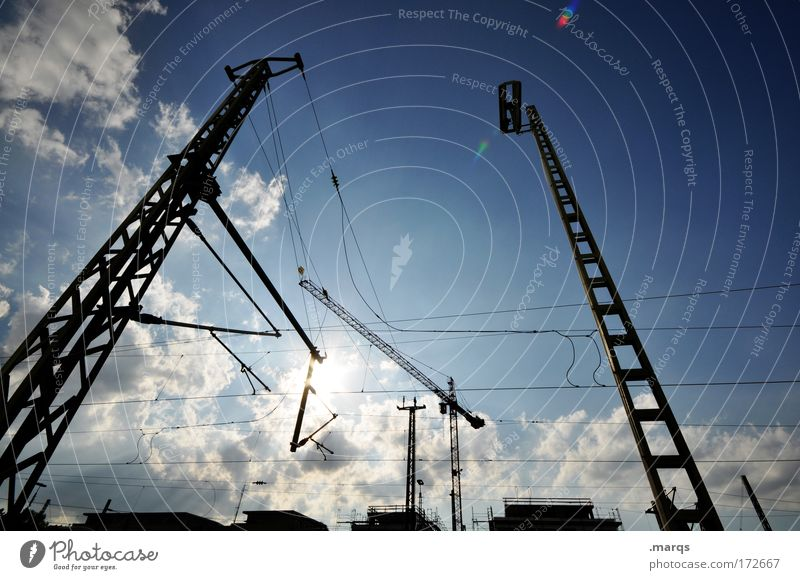 Sky Sun City House (Residential Structure) Clouds Building Planning Horizon Industry Modern Energy industry Growth Logistics Construction site Illuminate