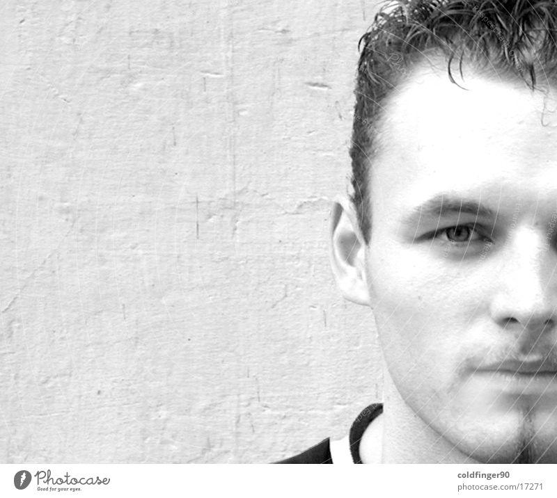 Man Beautiful White Face Black Wall (building) Hair and hairstyles Facial hair Chic