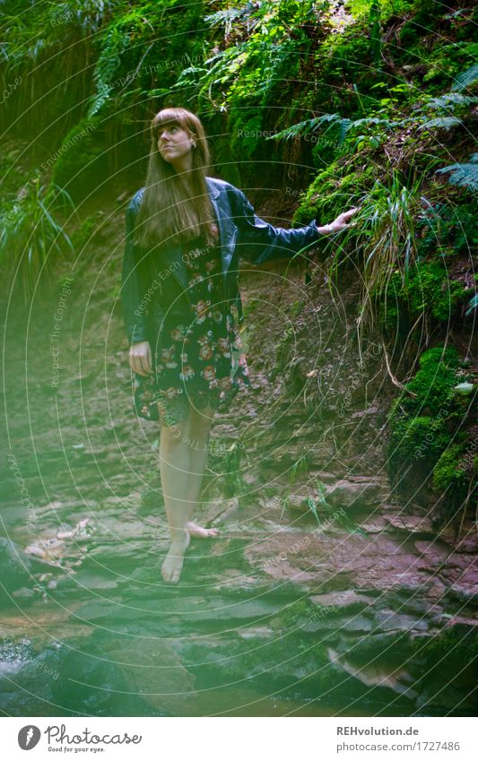 Carina Cascaden Gorge Human being Feminine Young woman Youth (Young adults) 1 18 - 30 years Adults Environment Nature Landscape Earth Water Summer Plant Bushes