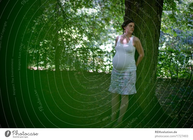 Waiting ... Human being Woman Adults Family & Relations Life Stomach 1 30 - 45 years Environment Nature Landscape Plant Tree Leaf Garden Park Think Relaxation