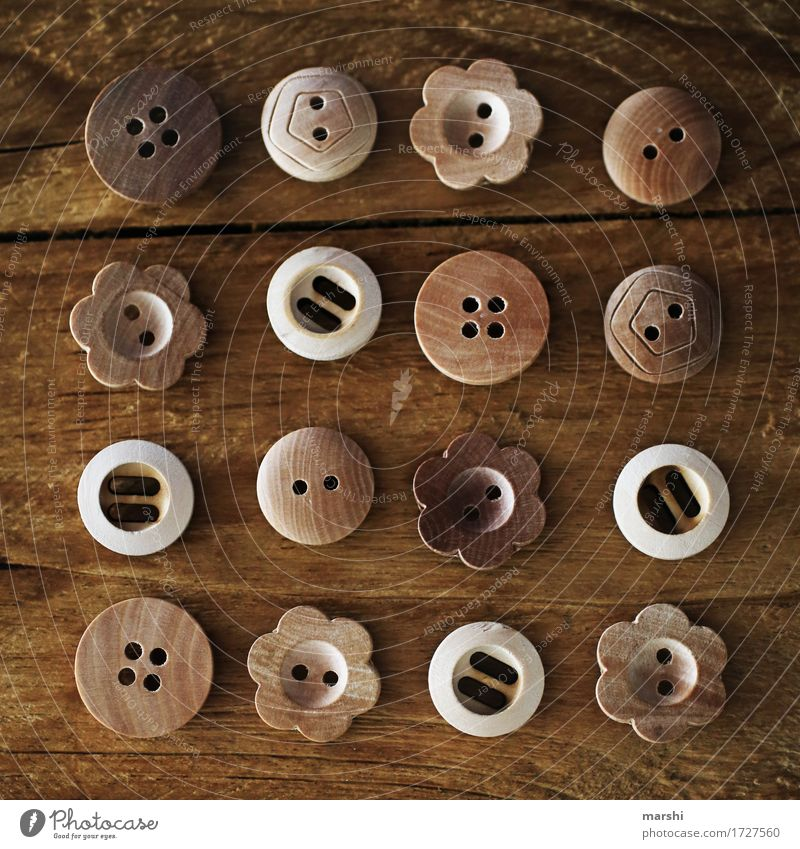 Wood Moody Brown Arrangement Sweet Sign Row Still Life Buttons Ornament