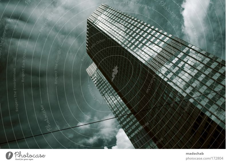 City Cold Building Business Moody Power Fear Architecture Success High-rise Perspective Growth Future Bank building Threat
