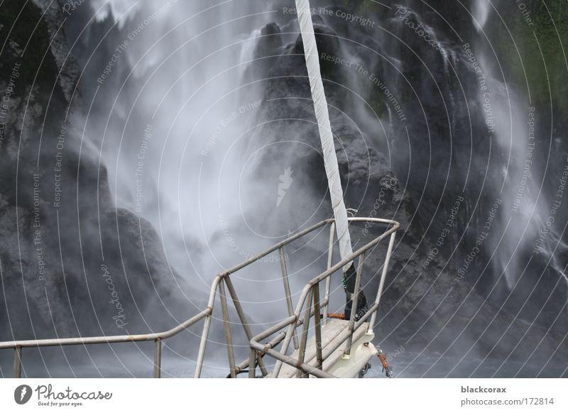 Water Watercraft Wild Waterfall New Zealand Milford Sound