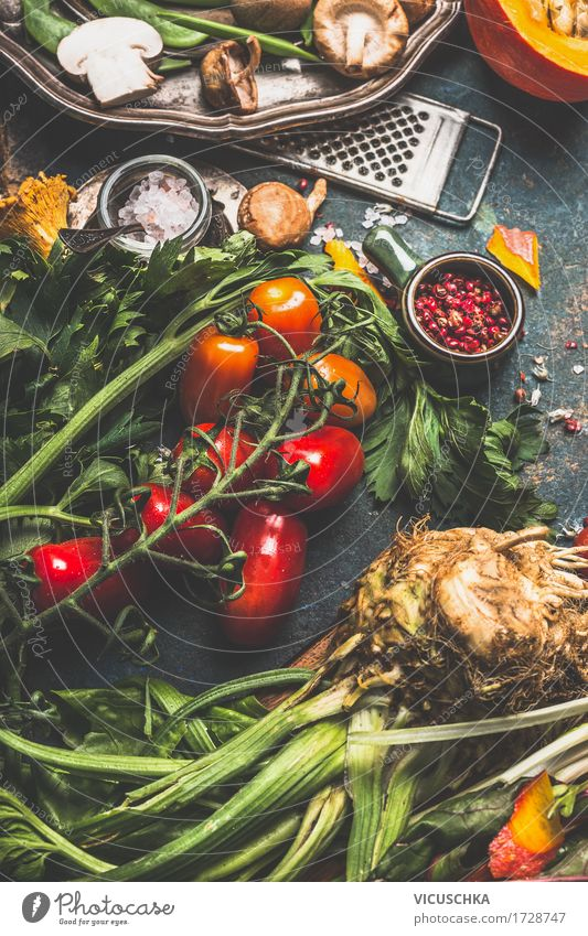 Nature Summer Healthy Eating Food photograph Life Eating Style Healthy Food Design Living or residing Nutrition Table Herbs and spices Kitchen Vegetable