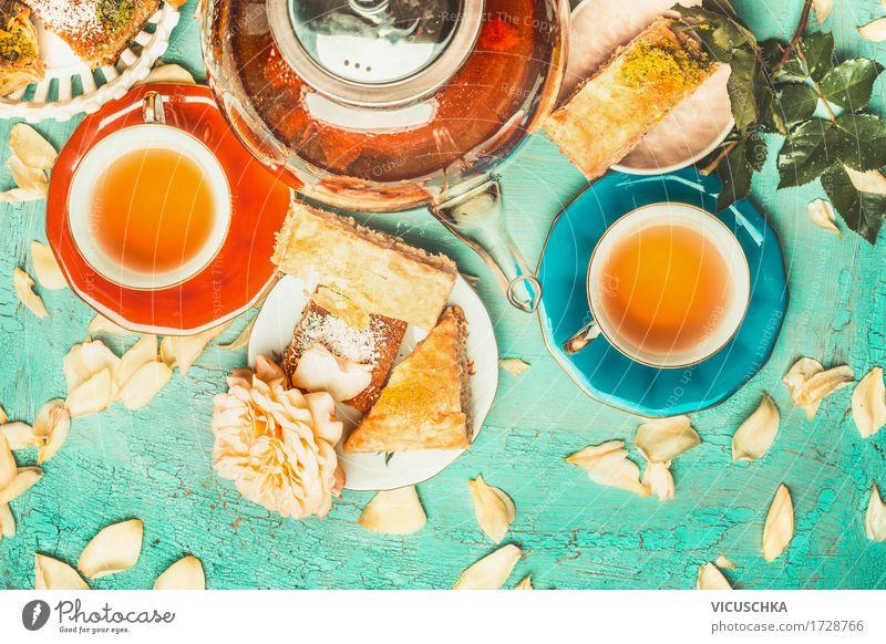 Flower Joy Lifestyle Style Design Living or residing Decoration Table Beverage Crockery Cake Dessert Tea Cup Plate Vintage
