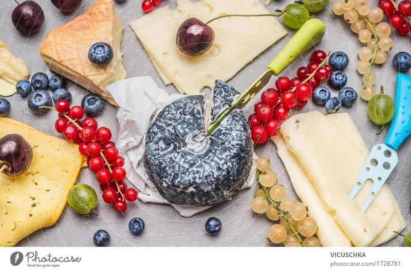 Cheese platter with fresh berries Food Nutrition Breakfast Lunch Banquet Knives Style Design Healthy Eating Table Restaurant Gourmet Snack Cheese grater