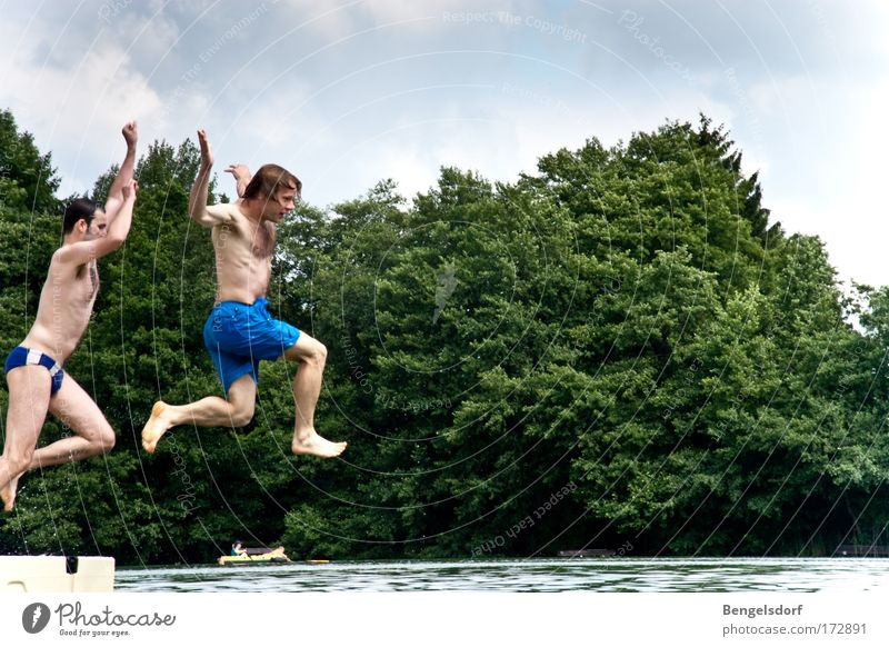 High diving for beginners Vacation & Travel Trip Far-off places Freedom Summer Summer vacation Sunbathing Aquatics Sportsperson Human being Young man