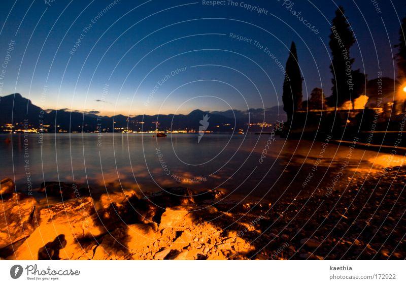 Water Sky Tree Ocean Blue Dark Mountain Stone Sadness Sand Gold Esthetic Romance Peace Italy Idyll