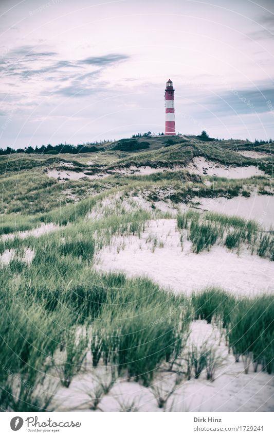 Lighthouse Wittdün / Amrum Vacation & Travel Tourism Trip Far-off places Freedom Environment Nature Landscape Sky Horizon Plant Coast North Sea Ocean Island