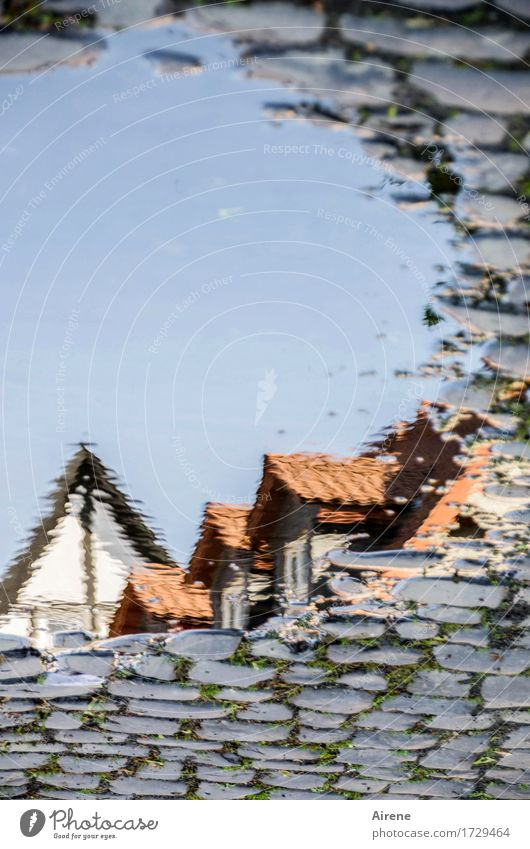 AST 9 | from another world II Water Drops of water Sky Cloudless sky Beautiful weather Small Town Old town House (Residential Structure) Dream house Roof Gable