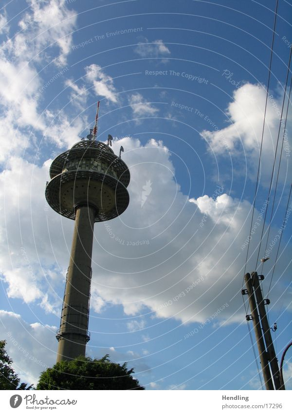 Sky Clouds Large Tall Telecommunications Television tower