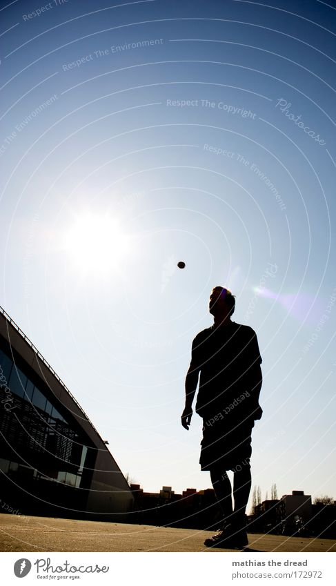 BALL ARTIST Colour photo Multicoloured Exterior shot Copy Space top Neutral Background Day Light Shadow Contrast Silhouette Reflection