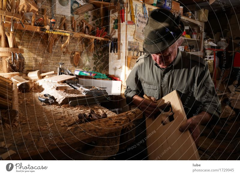 blunders Work and employment Profession Craftsperson Workplace Craft (trade) Male senior Man 1 Human being 60 years and older Senior citizen Artist Wood carver