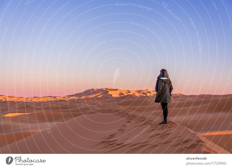 Morocco - Sunset Vacation & Travel Trip Adventure Far-off places Freedom Expedition Feminine Young woman Youth (Young adults) 1 Human being 18 - 30 years Adults