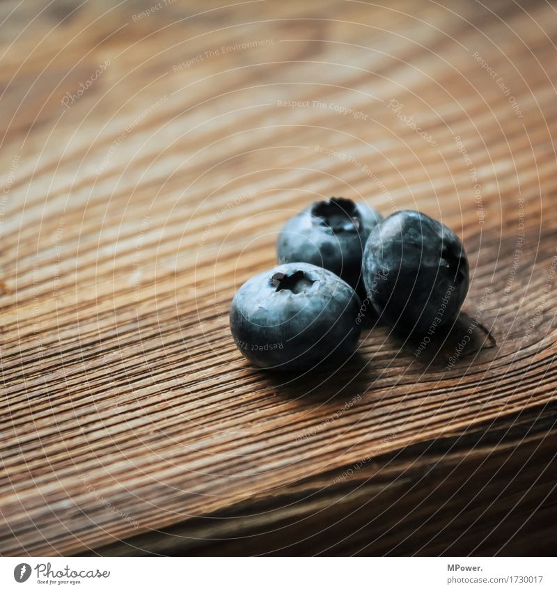three blueberries Food Fruit Nutrition Beverage To enjoy Blueberry Wooden table Wooden board 3 Berries Vegan diet Vegetarian diet Vitamin-rich Delicious Sweet
