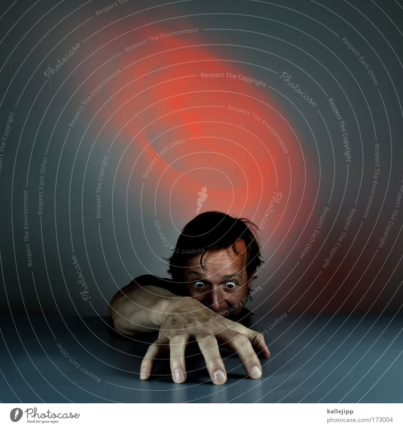 dangerous Colour photo Subdued colour Artificial light Long shot Forward Human being Man Adults Head Hair and hairstyles Face Eyes Arm Hand Fingers 1