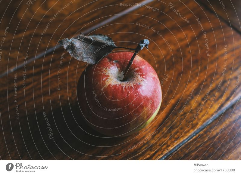 one apple a day... Food Apple Fruit Nutrition Organic produce Vegetarian diet Diet Fasting Good Leaf Table Delicious Red Wood Vitamin-rich Colour photo