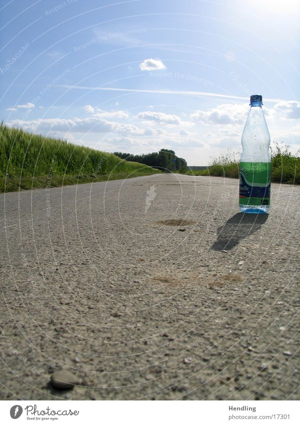 Sun Green Blue Loneliness Lanes & trails Things Bottle