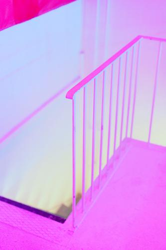 Colour Yellow Wall (building) Wall (barrier) Exceptional Pink Stairs Living or residing Esthetic Creativity Ground Mysterious Banister Creepy Sharp-edged
