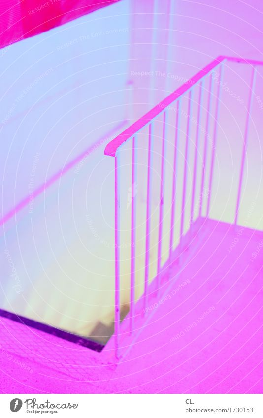 the pink room Wall (barrier) Wall (building) Stairs Banister Ground Esthetic Exceptional Sharp-edged Creepy Yellow Pink Bizarre Colour Mysterious Inspiration