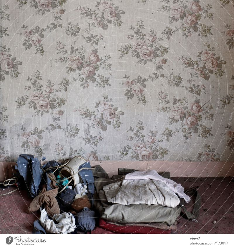 Old House (Residential Structure) Wall (building) Wall (barrier) Footwear Moody Room Dirty Clothing Lifestyle Gloomy T-shirt Kitsch Decoration Interior design Cloth