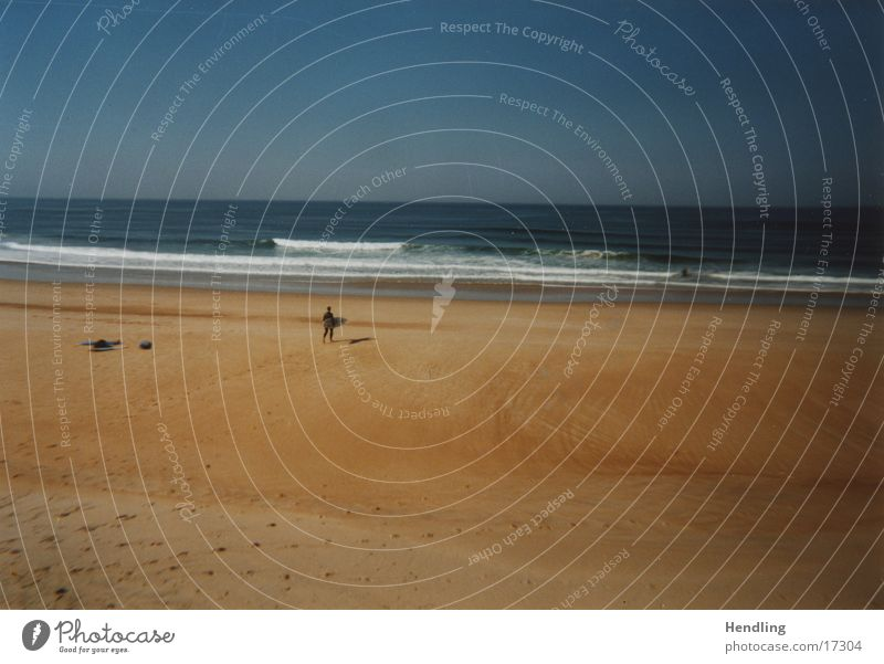 Lonely Surfer Anticipation Hossegor Vacation & Travel Europe beautiful waves horny weather Joy Sand Water