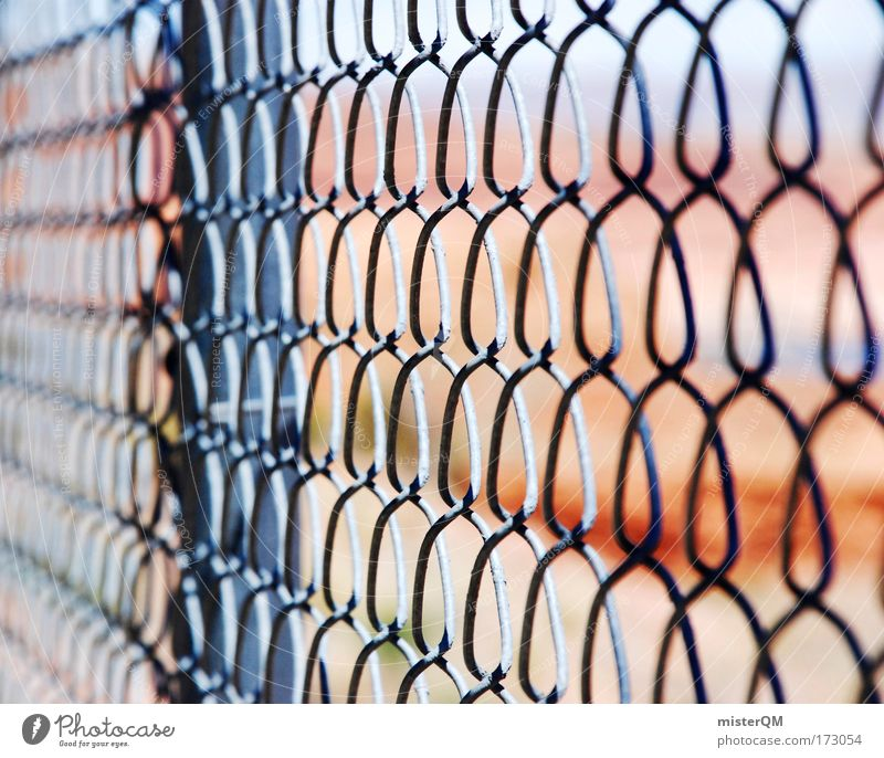 Somewhere Behind. Net Freedom Frustration Protection Captured Exclude Wire netting fence USA US Army Military zone Threat Guantanamo Penitentiary