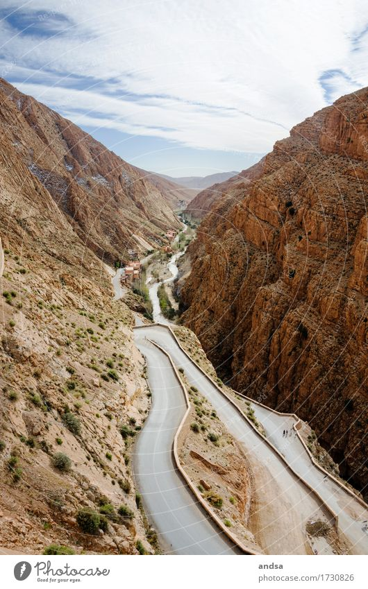 Gorges du Dades Vacation & Travel Tourism Trip Adventure Far-off places Freedom Expedition Summer Summer vacation Sun Mountain Hiking Nature Landscape Clouds