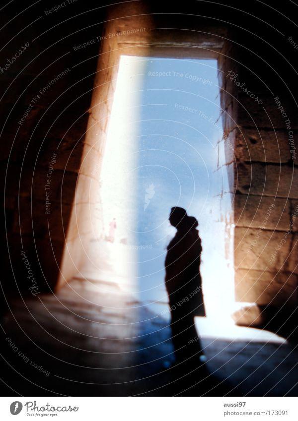 vertigo Sightseeing Inspection Human being Appearance Phenomenon Beam of light Bird's-eye view Shaft of light Crypt Eerie Spooky Ghosts & Spectres