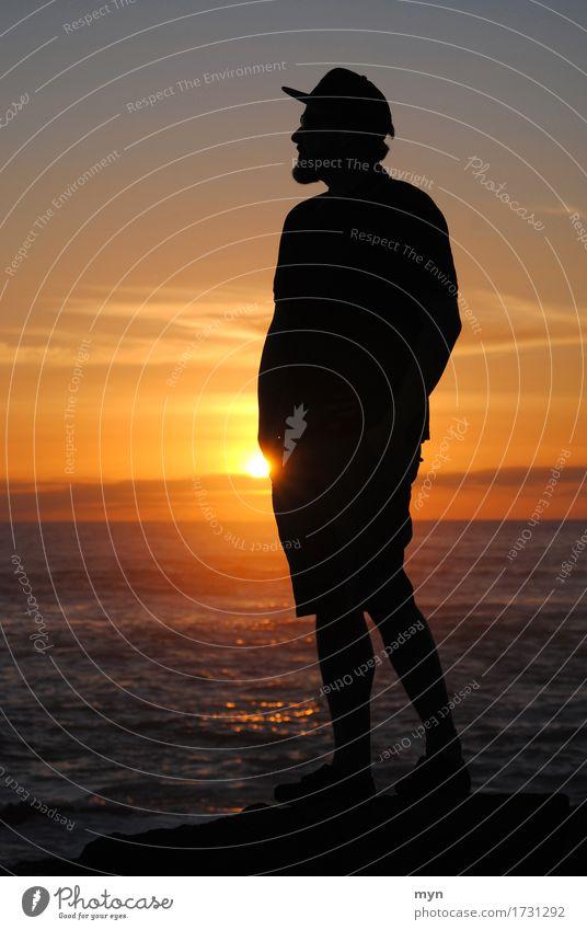 wanderlust Vacation & Travel Adventure Far-off places Freedom Summer Summer vacation Sun Beach Ocean Human being Masculine Man Adults 1 Nature Sky Horizon