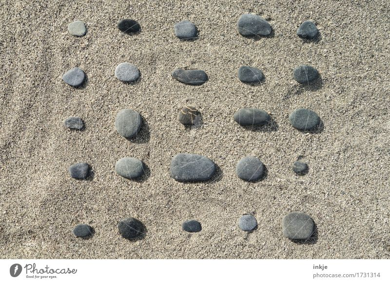 Vacation & Travel Summer Sun Beach Stone Sand Lie Leisure and hobbies Arrangement Creativity Beautiful weather Round Summer vacation Inspiration Collection