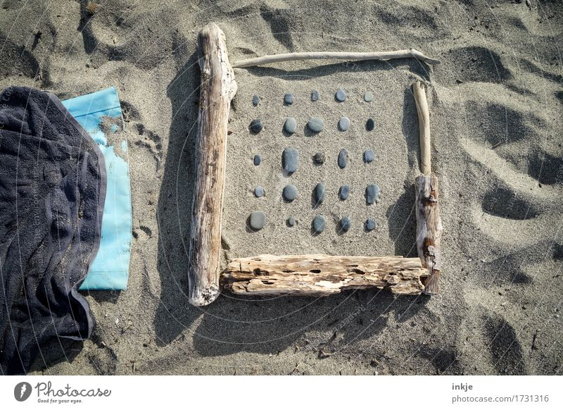 Nature Vacation & Travel Summer Sun Relaxation Beach Wood Stone Sand Leisure and hobbies Creativity Uniqueness Beautiful weather Harmonious Summer vacation Inspiration