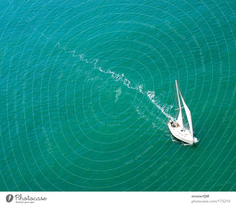 Water Yacht Ocean Vacation & Travel Loneliness Far-off places Relaxation Freedom Watercraft Planning Search Success Horizon Trip Hope