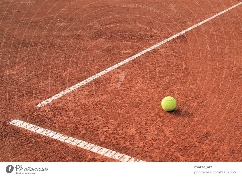 Packman can escape Leisure and hobbies Playing Tennis Tennis court Tennis ball Tennis tournament Summer Sports Ball sports Sand Sand place Line Linesman