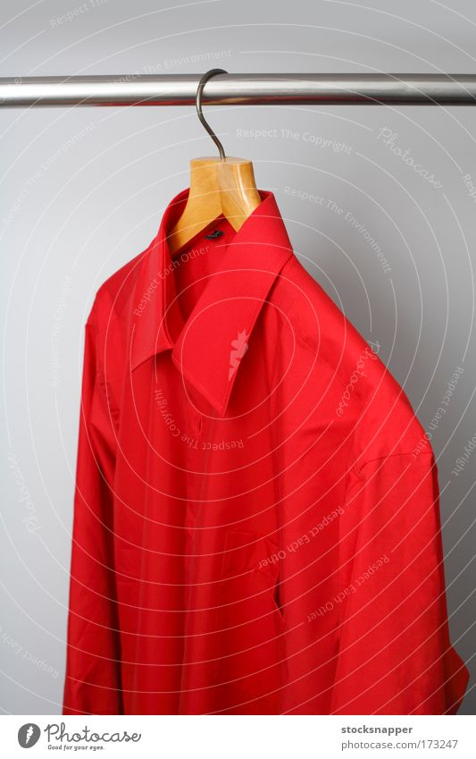 Red shirt Colour Fashion Clothing Shirt Cupboard Single Human being Hanger Hanging